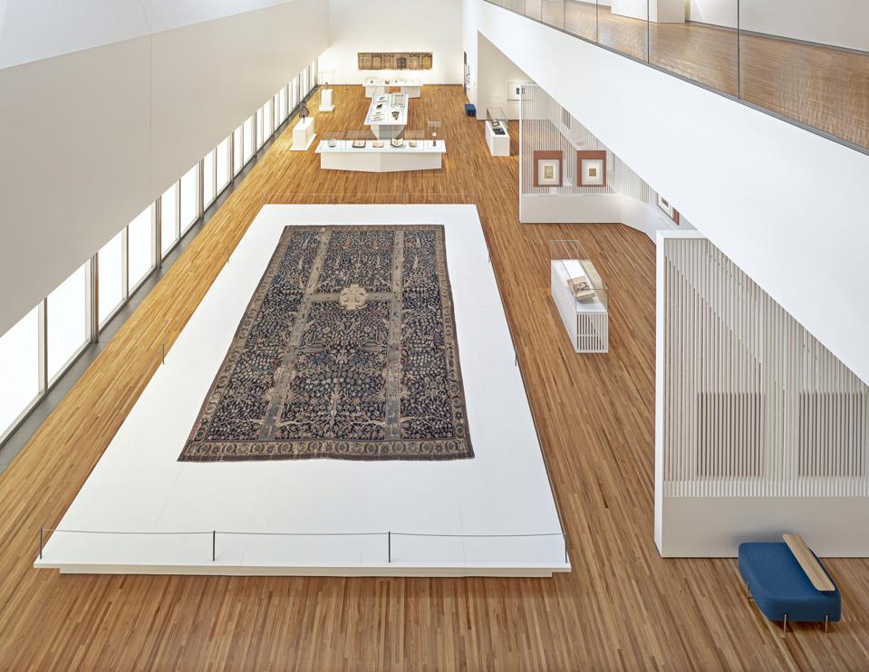 Installation of the Wagner Garden Carpet at the Aga Khan Museum in Toronto, Canada.