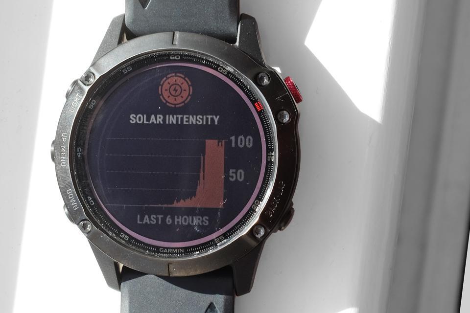 A photo of the Garmin Fenix 6 Pro Solar.