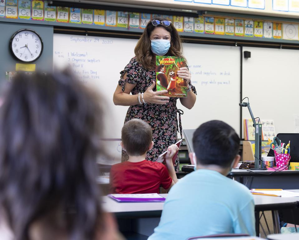 Students return to in-person instruction in Orange County, CA