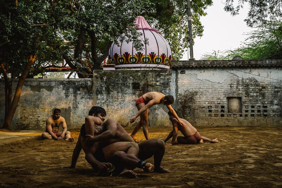 Photo Competition winner: Kushti wrestlers at sunset, India,
