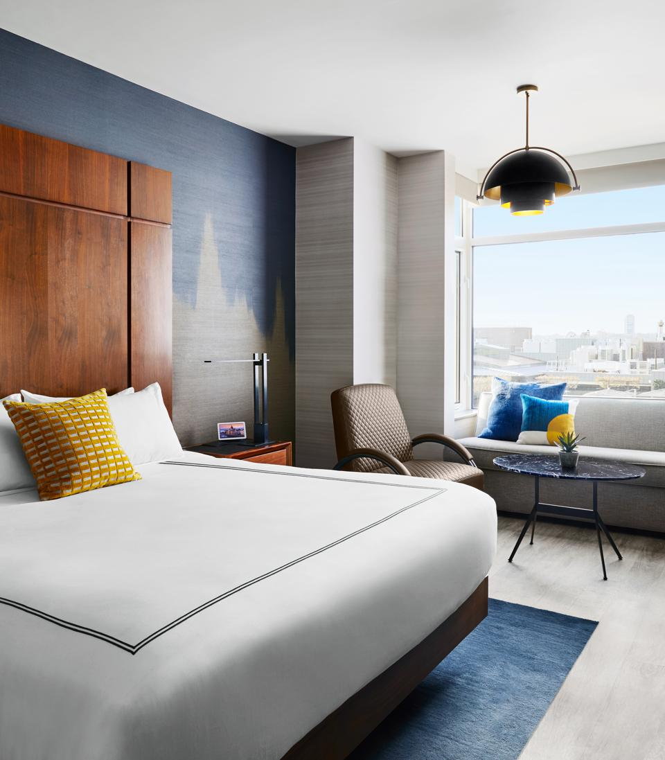 Queen bed in meatpacking district the gansevoort hotel in Manhattan with a new renovation
