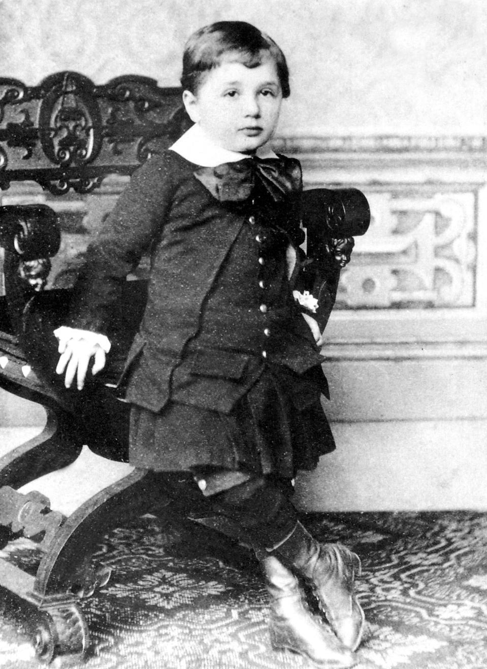 Albert Einstein (1879-1955) at 3, 1882