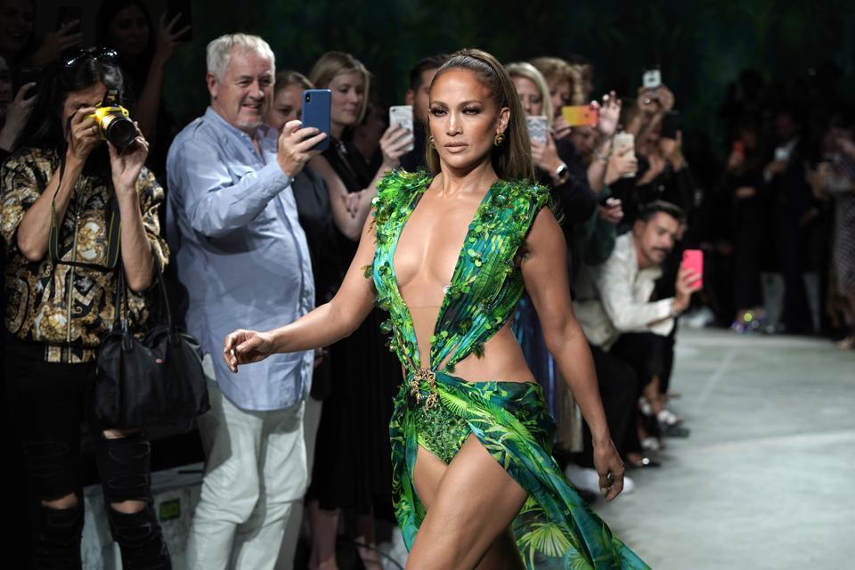 Versace - Runway - Milan Fashion Week Spring/Summer 2020 with Jennifer Lopez