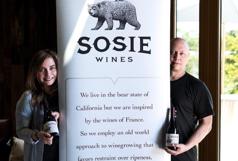 Regina Bustamante and Scott MacFiggen, proprietors of Sosie Wines.