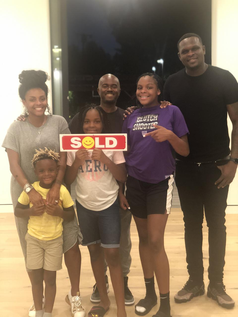 Rod Watson with former Memphis Grizzle NBA player Zach Randolph and family.