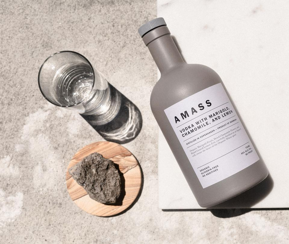 Chamomile, marigold and lemon are distilled right into AMASS Botanic Vodka.