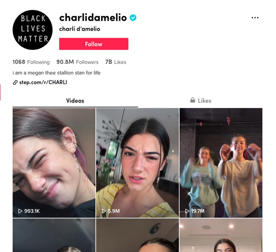 Charli D'Amelio is a creator and influencer on TikTok with over 90 million followers.