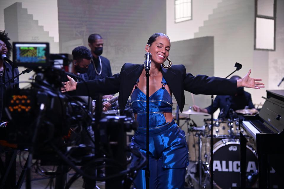 American Express UNSTAGED X Alicia Keys Performance.