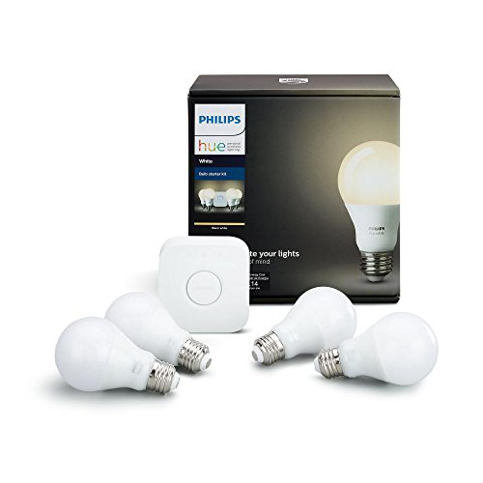 Philips Hue White A19 Smart Bulb Starter Kit