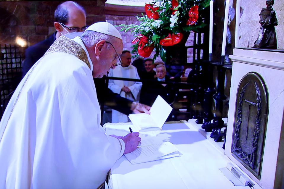 Pope Francis Visits Assisi To Sign A New Encyclical