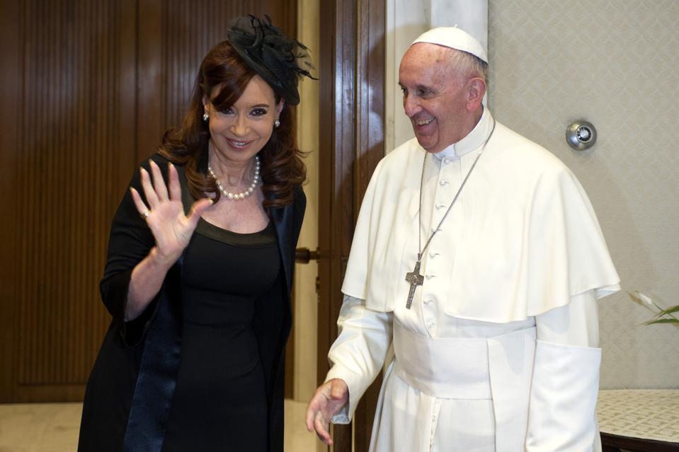 Pope Francis and Cristina Fernandez de Kirchner