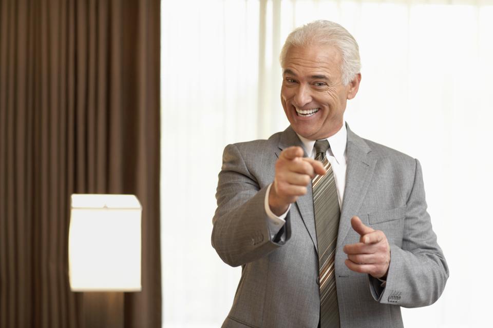 Overenthusiastic salesman
