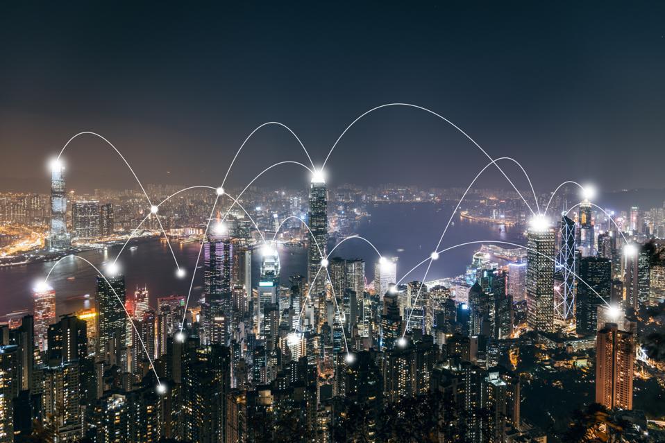 City Network of Hong Kong Skyline