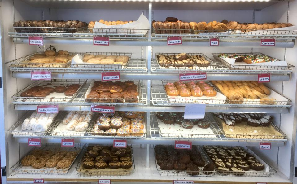 Doughnuts at Sweetwater's Donut Mill.