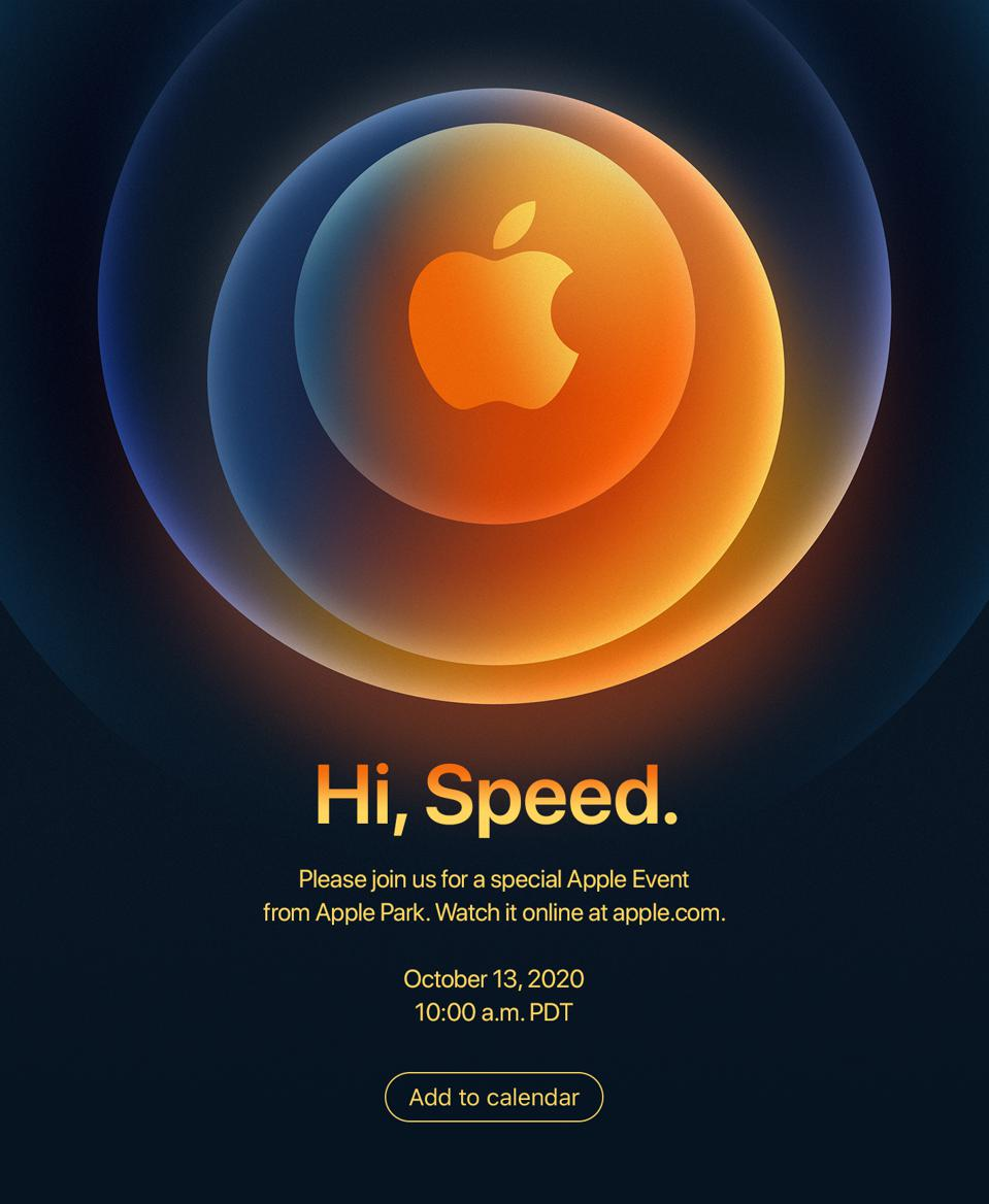 The Apple Event invite in full for the October 13 unveiling of... the iPhone 12, surely?