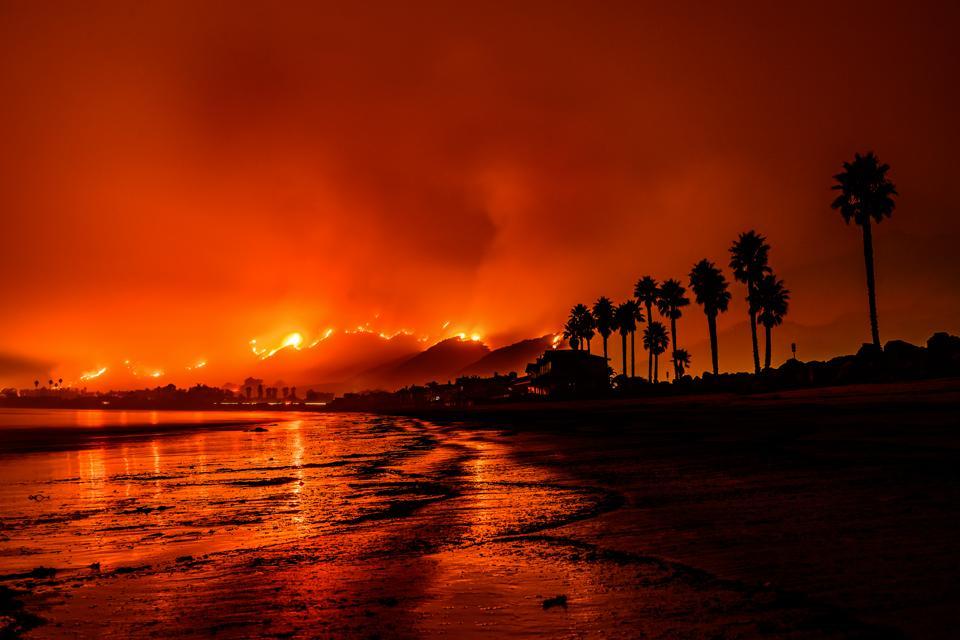 Tomas Fire Santa Barbara, California.