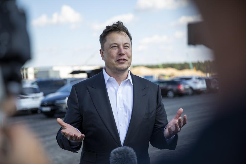 Elon Musk Visits New Tesla Gigafactory in Germany