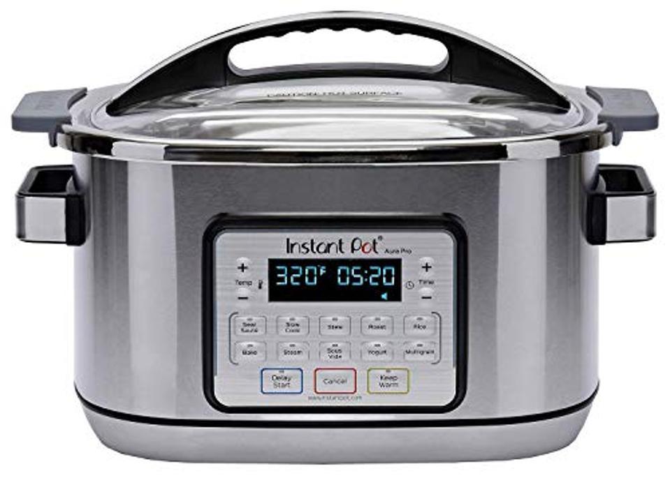 Instant Pot 8-Quart Aura Pro Multi-Use Programmable Slow Cooker with Sous Vide