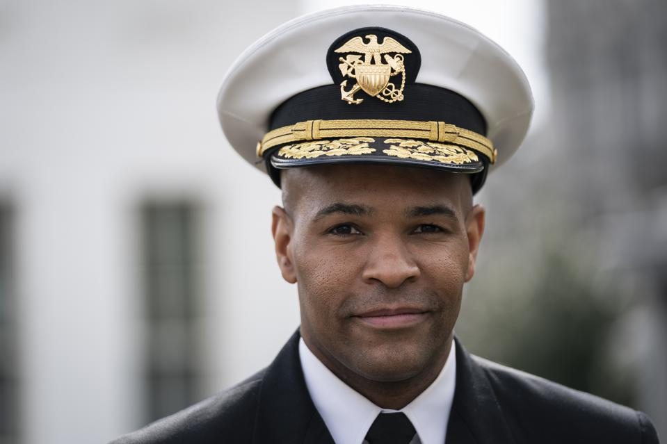 U.S. Surgeon General Jerome Adams Briefs Media At The White House