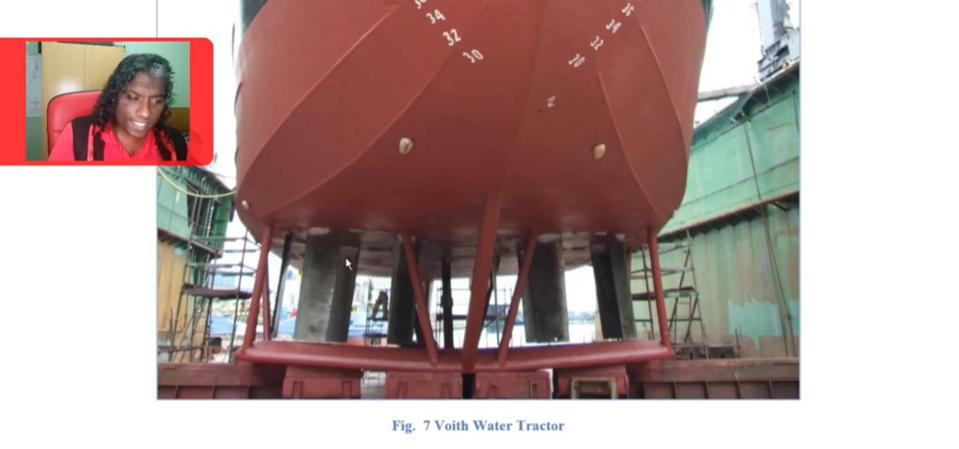 Video explaining how Voith Water tractors look in dry dock