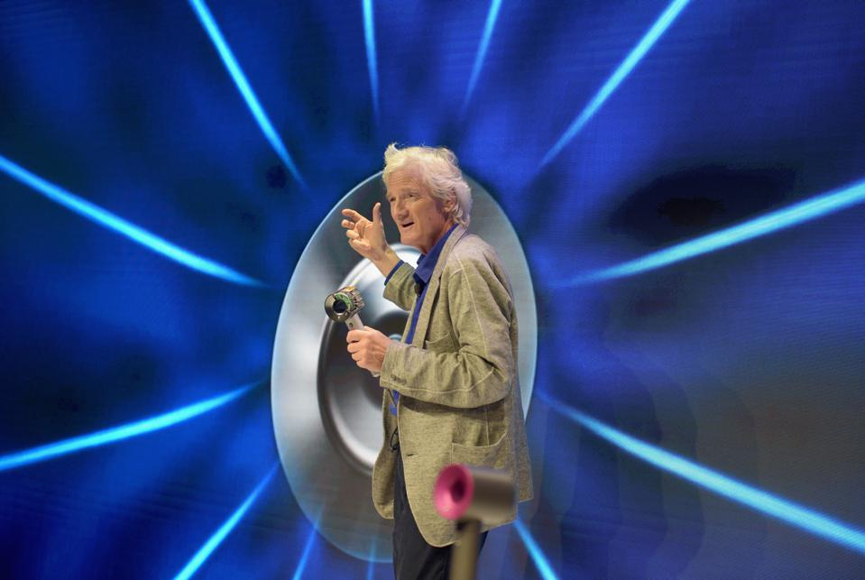 Dyson founder Sir James Dyson speaks onstage, presenting at the Dyson Supersonic Hair Dryer launch event in New York City in 2016.
