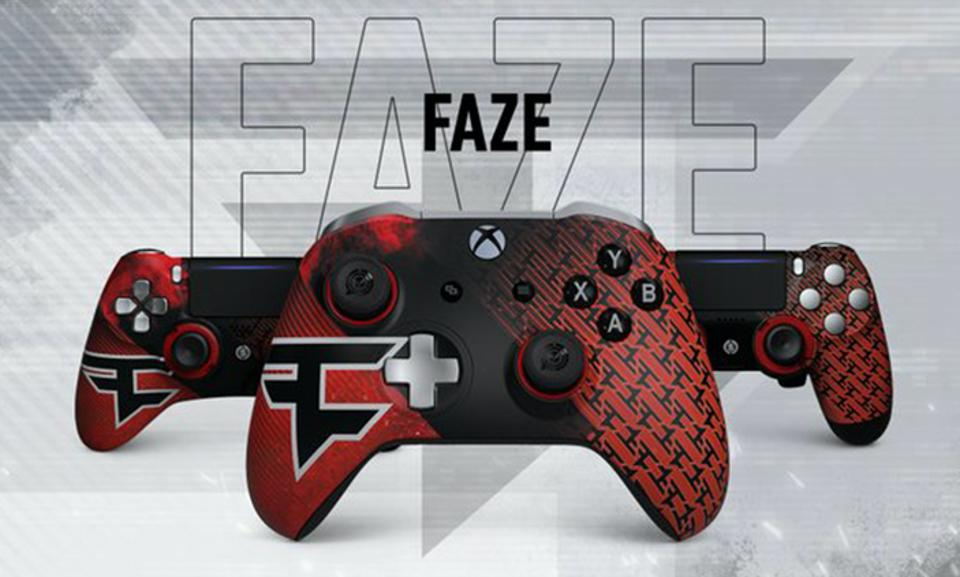 The FaZe X Scuf gaming controllers
