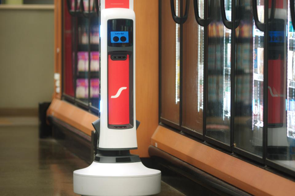 Tally robot at Schnucks.
