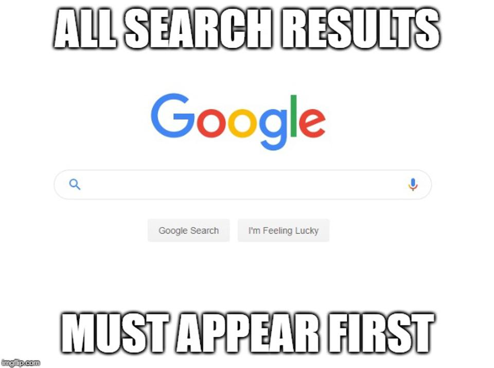 All Search Results Must Appear First