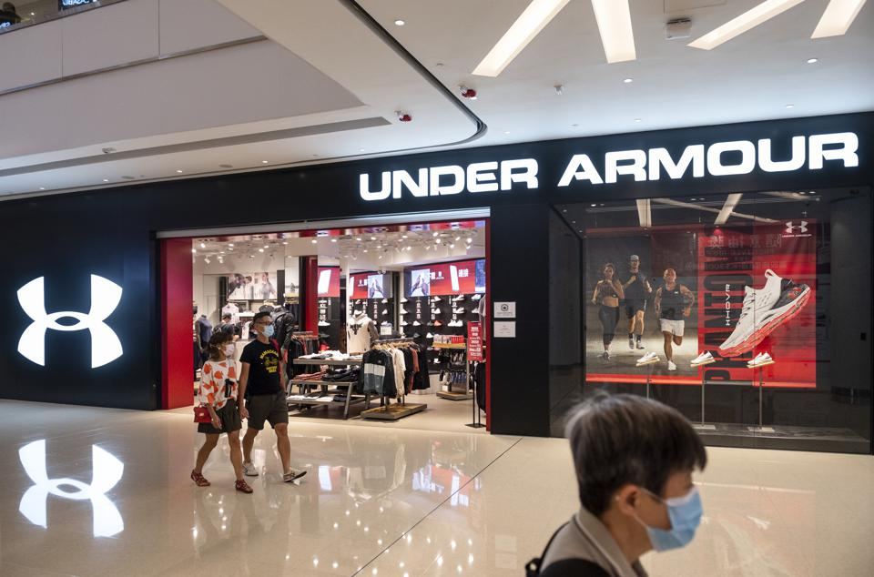 American multinational clothing brand Under Armour store...