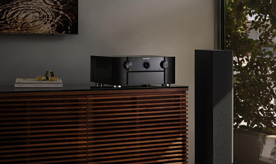 Marantz AV7760 AV Preamplifier in living room setting