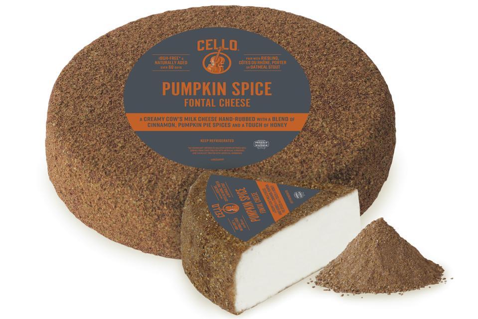 Cello Rubbed Fontal Pumpkin Spice Wheel wisonsin cheese