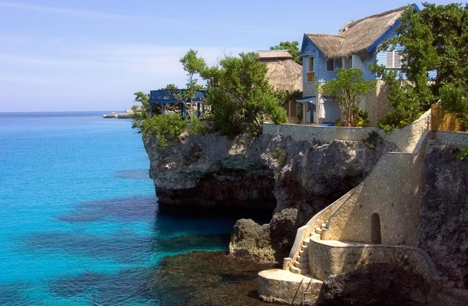 Beach villas at The Caves hotel in Jamaica.