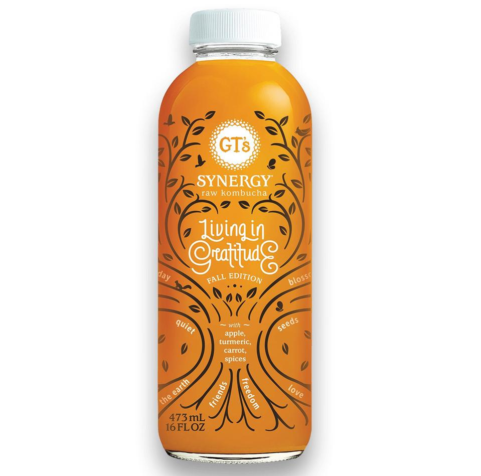 Limited Edition Fall Kombucha Living In Gratitude GT Synergy