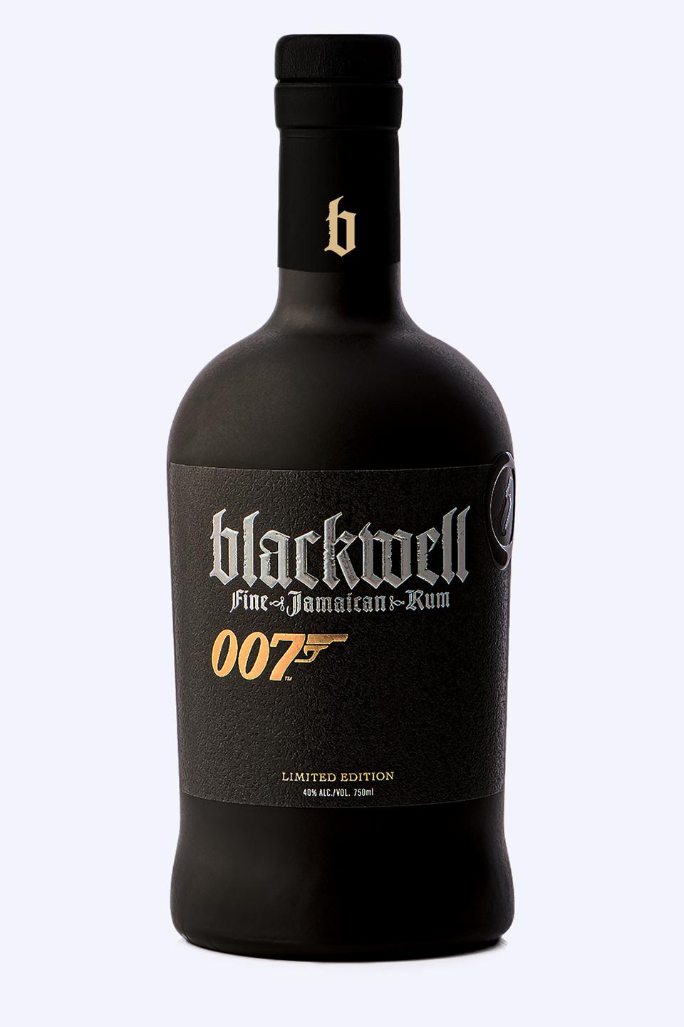 Special bottle of Blackwell Rum