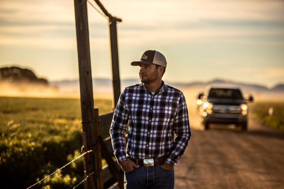 farmer in fields