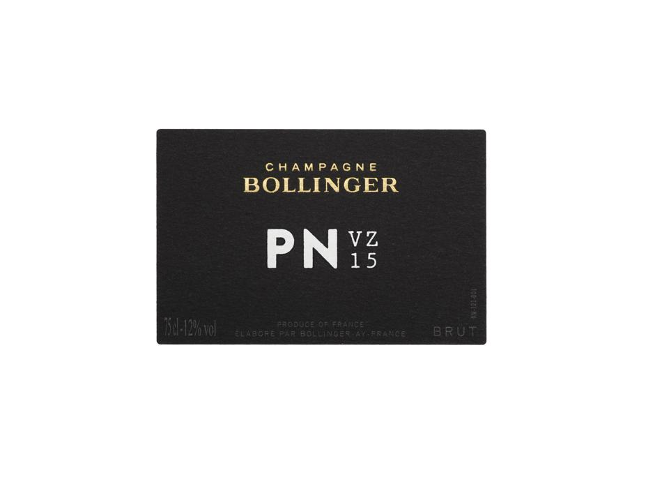 Champagne Bollinger's new expression, the PN VZ15.