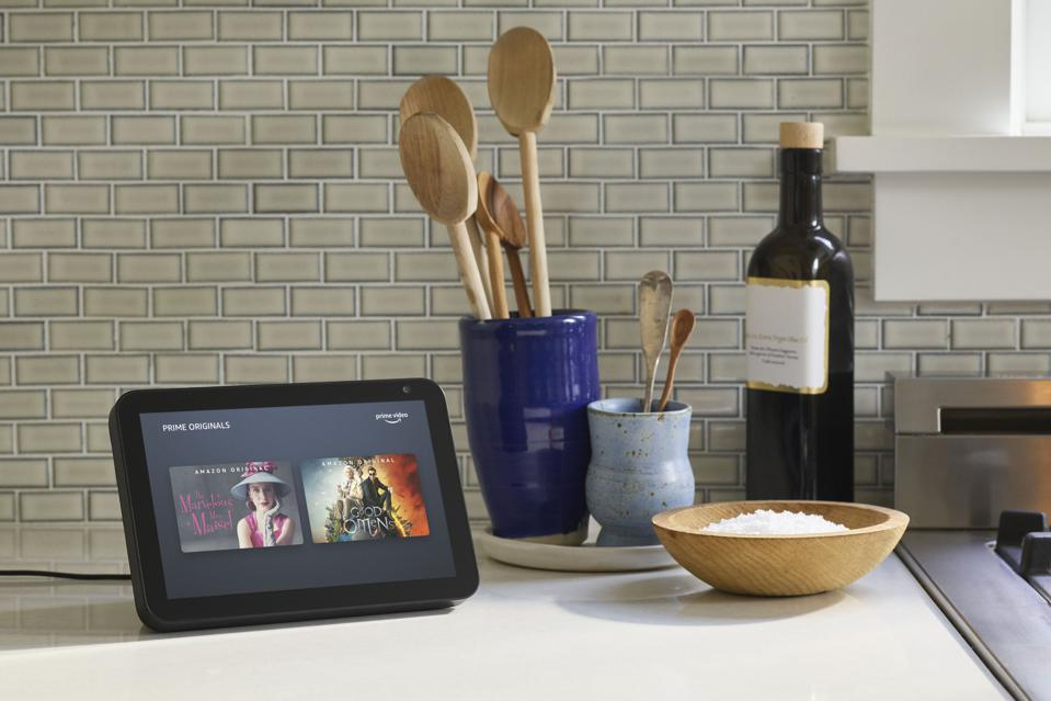 Amazon Echo Show 8 in a kitchen