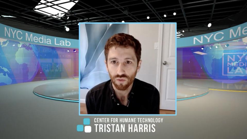 Tristan Harris of Center for Humane Technology at NYC Media Lab Summit