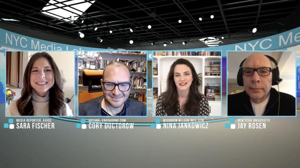 Panelists for the NYC Media Lab Summit conversation on ″Big Ideas″