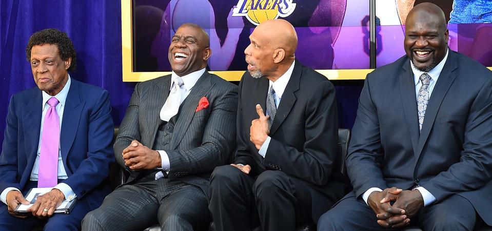 Shaq, Magic Johnson, Kareem Abdul-Jabbar