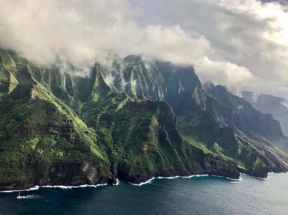 The Napali coast of Kauai, an image featured in Travel by Design, Assouline.