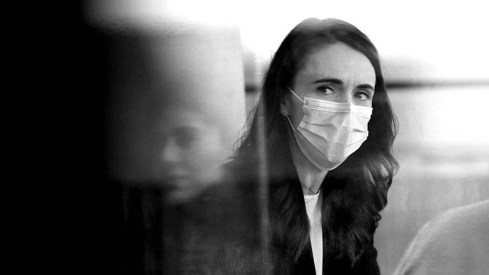 Jacinda Ardern In Auckland As COVID-19 Alert Level Is Downgraded