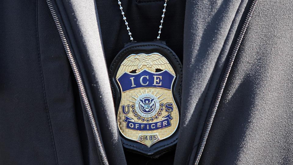 REVERE, MA. - SEPTEMBER 25: ICE agent badge on September 25, 2019 in Revere, Massachusetts.  (Staff Photo By Matt Stone/MediaNews Group/Boston Herald)