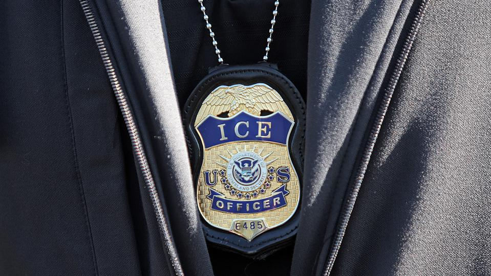 REVERE, MA. - SEPTEMBER 25: ICE agent badge on September 25, 2019 in Revere, Massachusetts.  (Staff Photo By Matt Stone/MediaNews Group/Boston Herald)