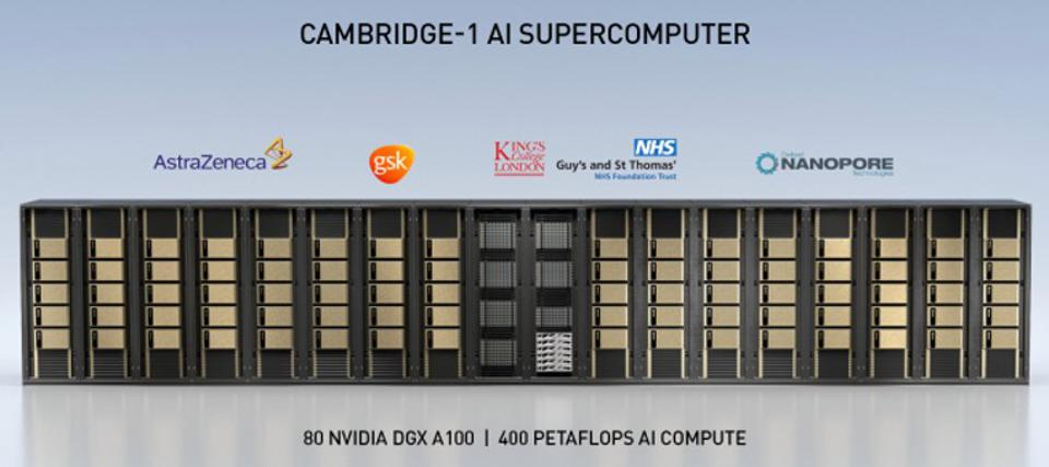 Image of an Nvidia SuperPod that will be part of the Cambridge-1 supercomputer