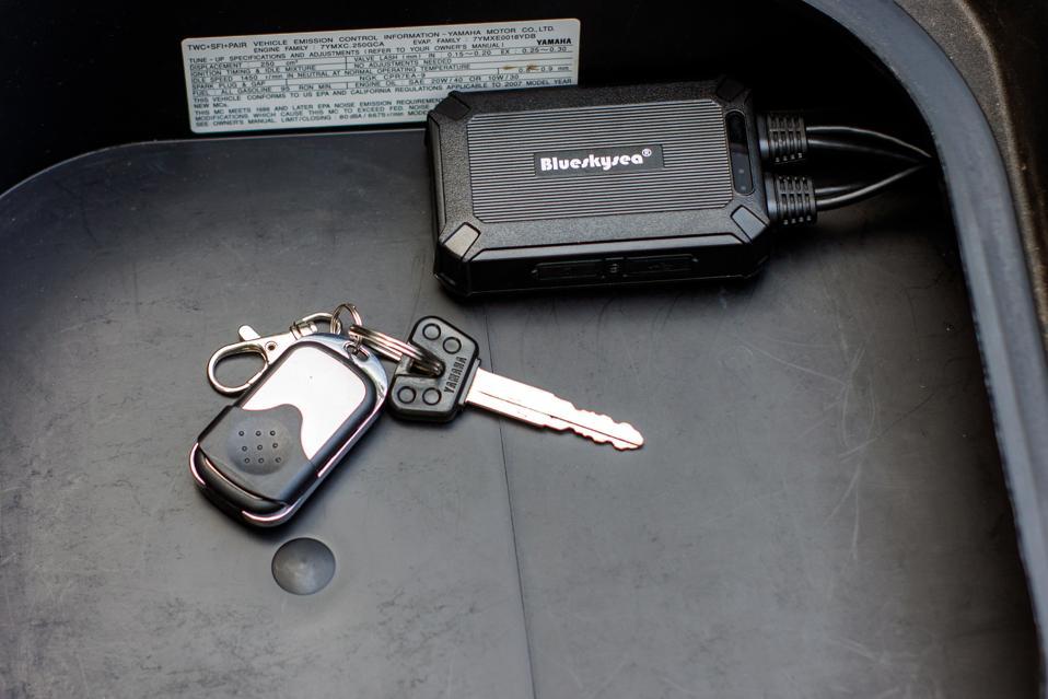 Blueskysea B1M motorcycle dash camera system
