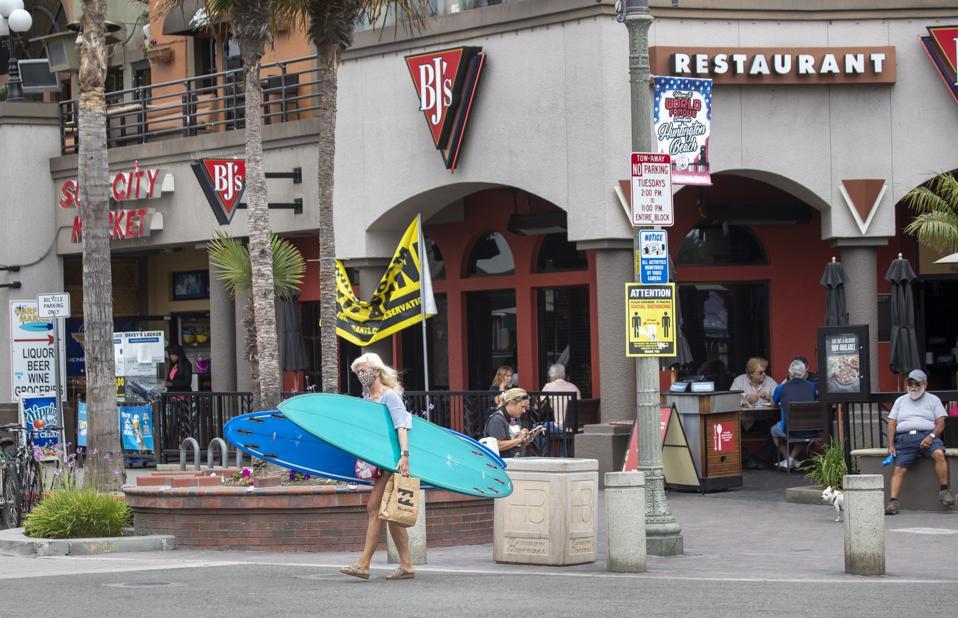 Main Street in Huntington Beach, CA.