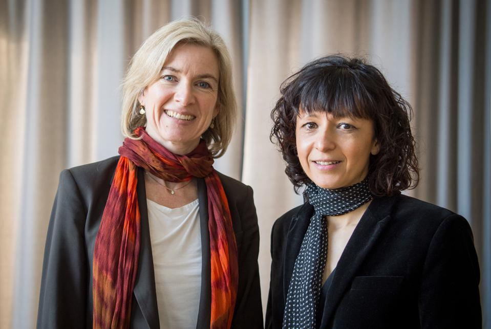 Jennifer Doudna and Emmanuelle Charpentier, winners of the 2020 Nobel Prize for Chemistry.