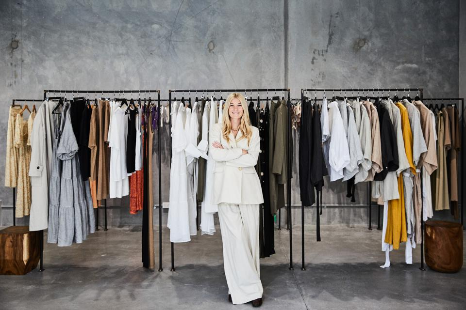 Bianca Gregg, Co-founder at Del Rainbow in the showroom.