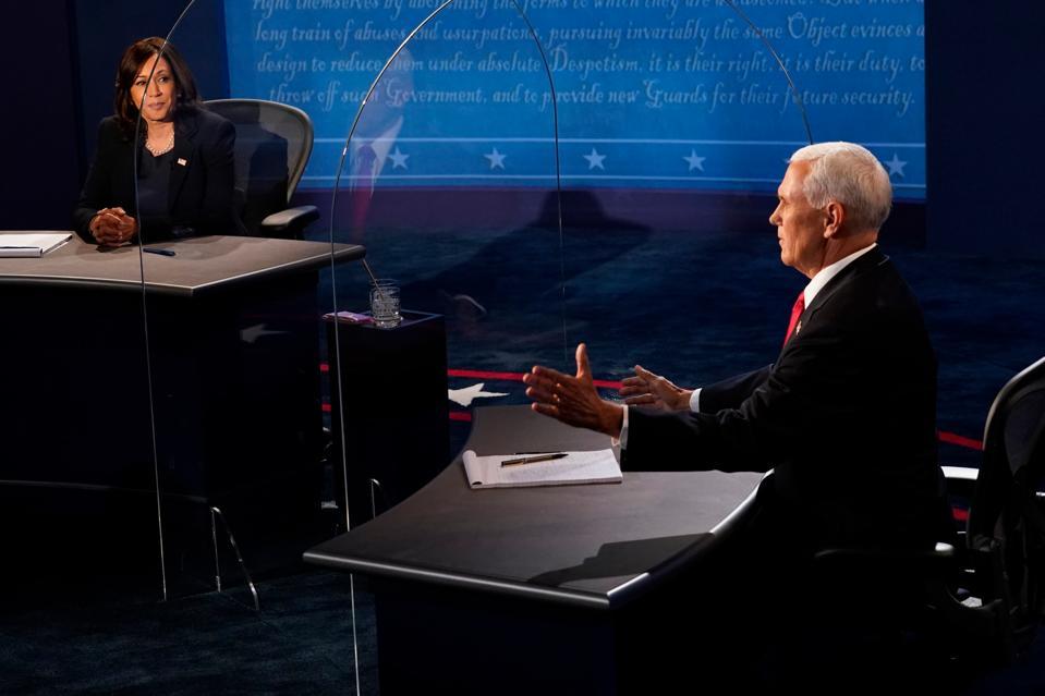 Mike Pence And Kamala Harris Take Part In Vice Presidential Debate
